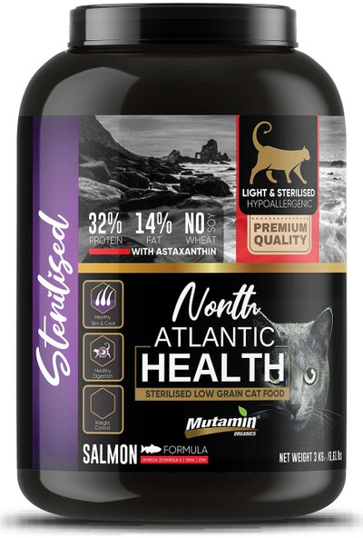 Mutamin Organics North Atlantic Health Somonlu Kedi Maması 3 kg