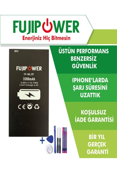 Fujipower Samsung Galaxy J7 Prime SM-G610 Batarya Pil 3300 Mah