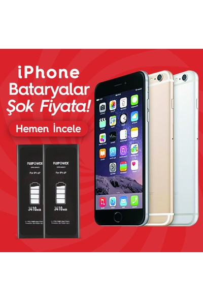 Fujipower Apple iPhone 6 Plus Batarya Pil 3410 Mah
