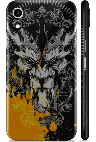 Renkli Garaj Apple iPhone XR Bad Lion Telefon Kaplaması