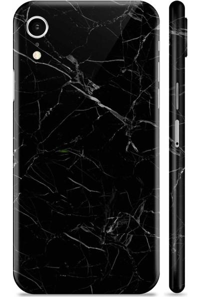 Renkli Garaj Apple iPhone XR Black Marble Telefon Kaplaması