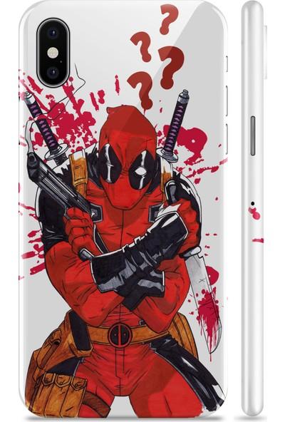 Renkli Garaj Apple iPhone XR Deadpool Telefon Kaplaması