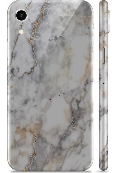 Renkli Garaj Apple iPhone XR White Marble Telefon Kaplaması