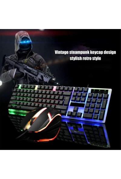 Raynox K-800 Işıklı Oyuncu Klavye Mouse Seti
