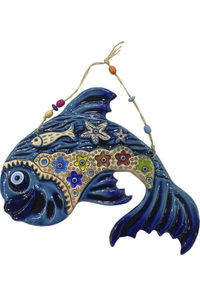 Ms Duvar Süsü Askılı Çini Balık Büyük