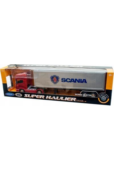 Welly Metal Scania V8 R730 Dorseli Tır 1-32 Ölçek 55 Cm