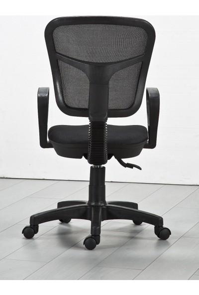 Ege Marla Home Fileli Sekreter Çalışma ve Bilgisayar Koltuğu / Siyah