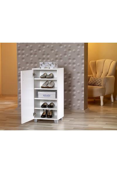 Mobusta Fute Minix Beyaz Ayakkabılık Çok Amaçlı Dolap