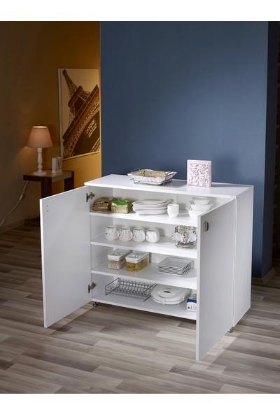 Mobusta Camenta Tombix Beyaz Çok Amaçlı Banyo Mutfak Dolabı