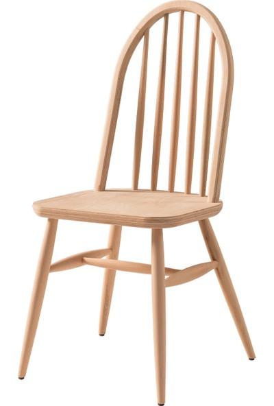 Obuts Home 695 Ada Sandalye Cilasız Ahşap Ham