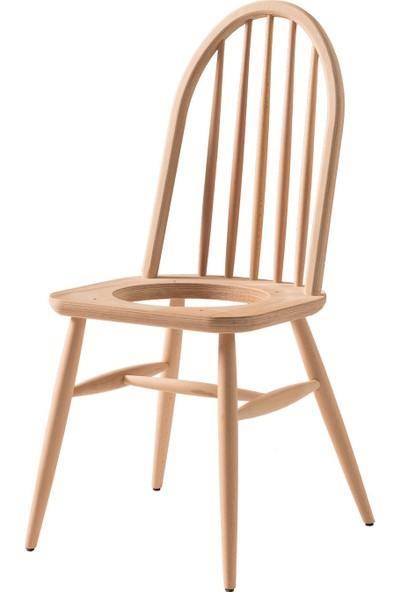 Obuts Home 696 Ada Döşemeli Sandalye Cilasız Ahşap Ham