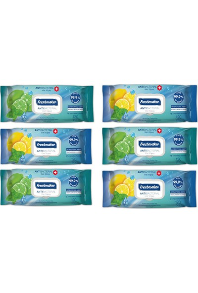 Freshmaker Antibakteriyel Islak Havlu Mendil 6 Paket 720 Yaprak