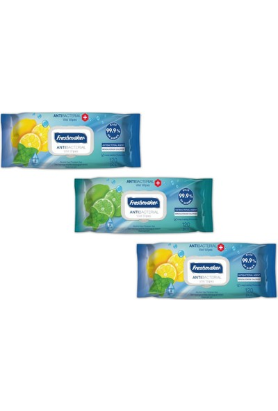 Freshmaker Antibakteriyel Islak Havlu Mendil 3 Paket 360 Yaprak