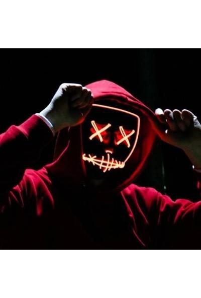 Sevfe LED Işıklı Yanıp Sönen Renkli Maske