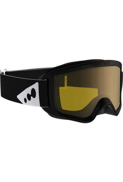 Weed Çocuk - Yetişkin Kayak Snowboard Maskesi Çift Camlı Buğu Yapmaz Siyah