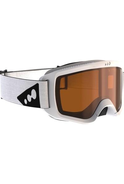 Weed Erkek Kayak ve Snowboard Maskesi Beyaz Buğu Önleyici Çift Cam