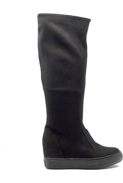 Eşle 9K-128250 Kadın Günlük Çizme Siyah