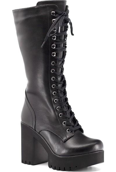 Eşle 9K-08520 Kadın Topuklu Çizme Siyah