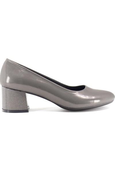Eşle 9K-1211 Kadın Topuklu Ayakkabı Platin