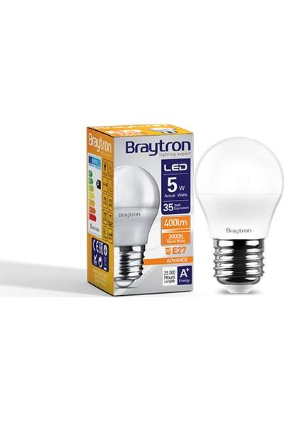 Braytron 5 W E-27 Duy 3000 K Gunışığı Işık Mini LED Ampul - BA11-0520