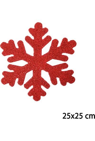 Acarim Yılbaşı Köpük Cam Kapı Süsü Kar Tanesi 25CM