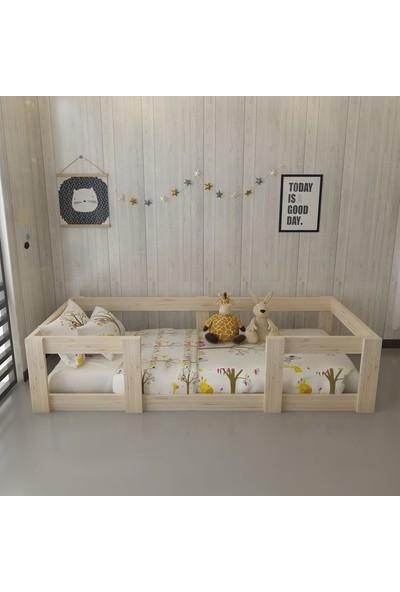 Dekoriz Doğal Ahşap Montessori Yatak Plus - 107