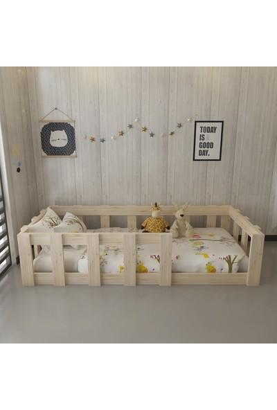 Dekoriz Doğal Ahşap Montessori Yatak Plus - 108