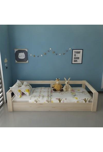 Dekoriz Doğal Ahşap Montessori Yatak Plus - 102