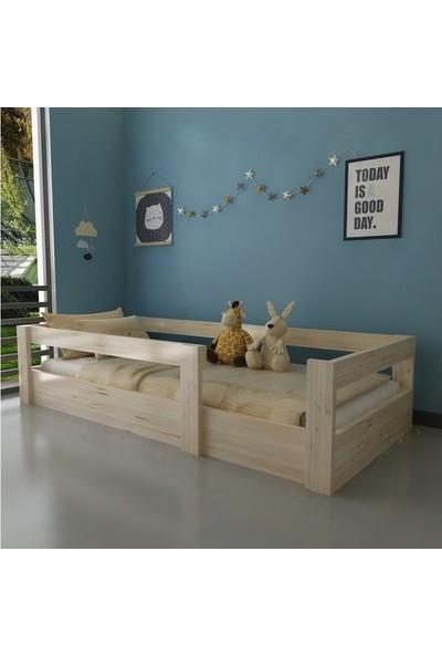 Dekoriz Doğal Ahşap Montessori Yatak Plus - 101