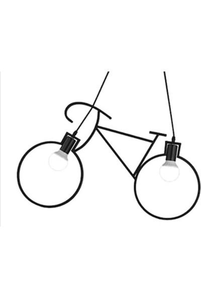 Bundera Bisiklet Sarkıt Avize Metal Ferforje Retro Rustik
