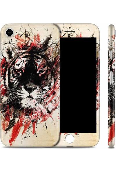 Renkli Garaj iPhone 7 Black Tiger Telefon Kaplaması