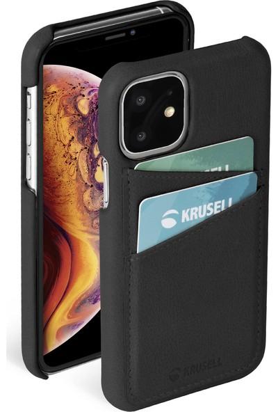 Krusell Deri Cardcover Apple iPhone 11 Kılıf Siyah