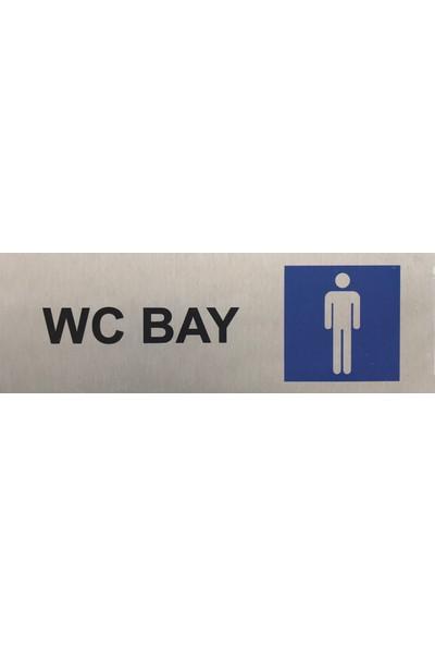 Se -Dizayn Wc Bay Tuvalet Tabelası Kapı Yönlendirme Levhası 15 cm X 5 cm