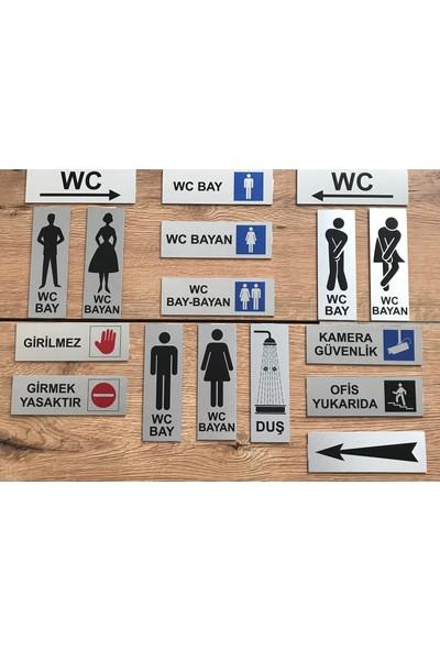 Se -Dizayn Wc Bayan Tuvalet Tabelası Kapı Yönlendirme Levhası 15 cm X 5 cm