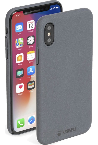 Krusell Sandby Apple iPhone XS Kılıf Gri