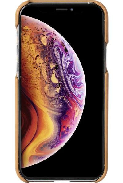 Kusell Apple iPhone 11 Pro Max Deri Kılıf Bej