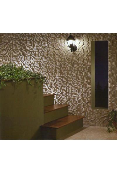 Doğal Dekor 23X23MM Klasik Mermer Traverten Doğal Taş Patlatma Taş Kaplama Duvar Dekorasyonu