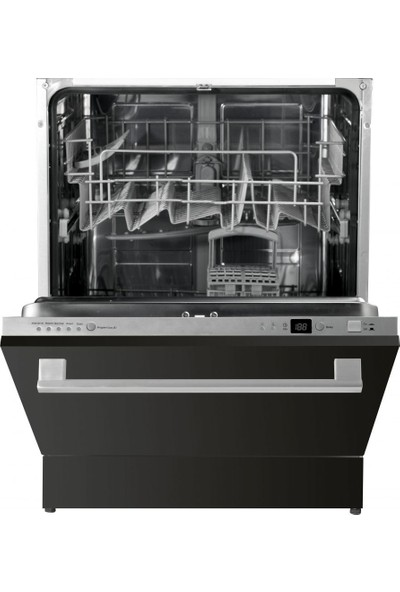 Silverline D11033 B01 A+ 5 Programlı Tam Ankastre Siyah Bulaşık Makinesi