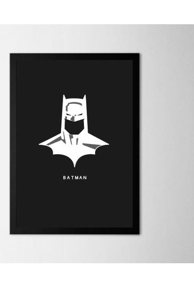 Polnight Batman Face Çerçeveli Poster