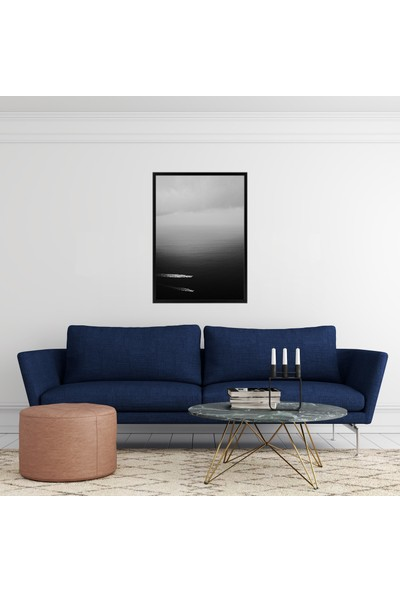 Polnight Black Sea Çerçeveli Poster