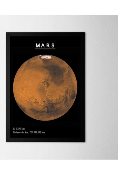 Polnight Mars Çerçeveli Poster