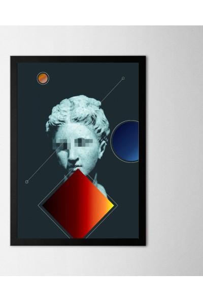 Polnight Sculpture Çerçeveli Poster