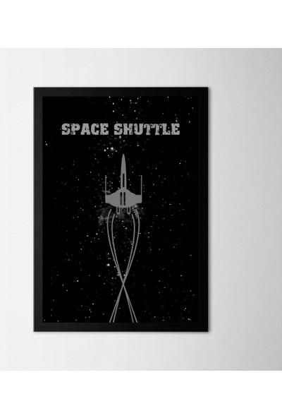 Polnight Space Shuttle Çerçeveli Poster