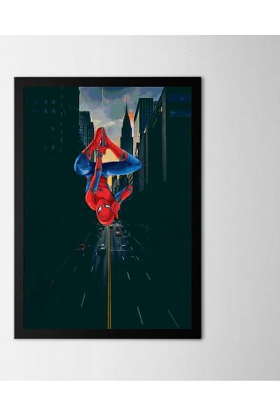 Polnight Spiderman Çerçeveli Poster