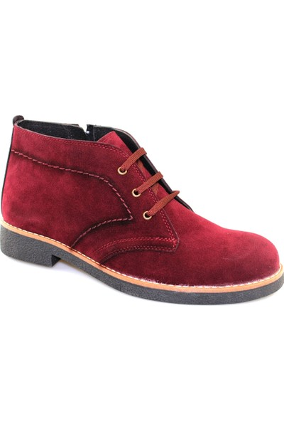 Shoes Collection Bordo Süet Erkek Bot 45277