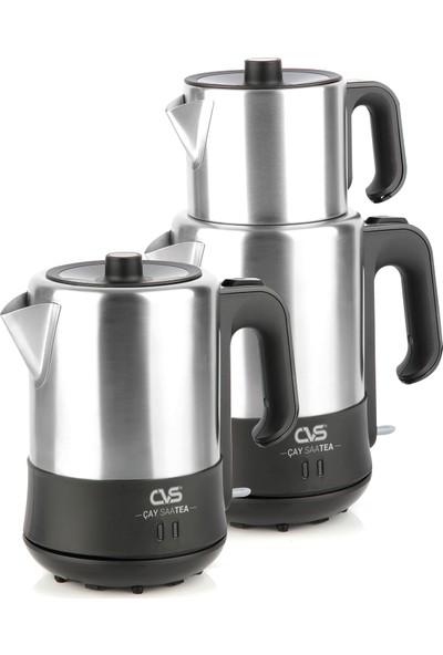 CVS DN 91124 Çay SaaTEA Siyah İnox Elektrikli Çaycı