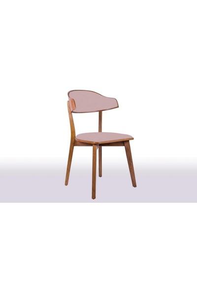 Krl Mobilya Linda Bkc Ceviz Ahşap Sandalye Anfora 3469 Kumaş