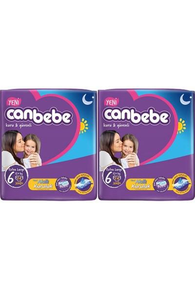 Canbebe Extra Large 6 Numara 24'lü x 2 Paket 48 Adet Bebek Bezi