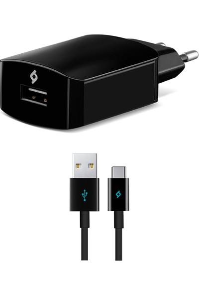 Ttec Android Seyahat 3.0 Hızlı Şarj Aleti Siyah + Type C Kablo
