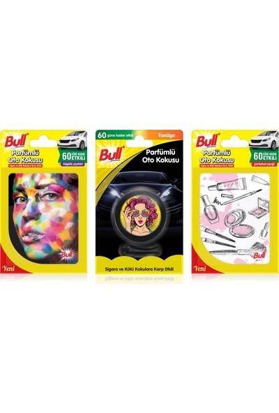 Bullpowers Parfümlü Oto Kokusu 3'lü Ekonomik Paket (Kadın)